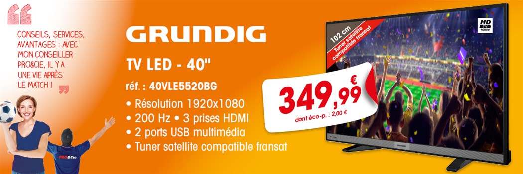 TV LED Grundig 40VLE5520BG